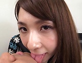 Ooba Yui, excels in her blowjob giving skills picture 13