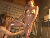 Hot Asian babe loves offering a nice titty fuck indoors