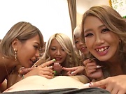 Japanese models crazy group sex during XXX casting