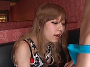 Stockings hardcore along Japanese bimbo Aoi Rena