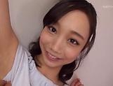 Sensual facial cum shot scene involving cute Hinata Saeka