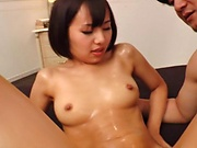 Naughty Akane Aoi in a wild hardcore threesome scene