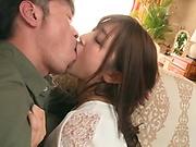 Mizuki Miri gets a large dick in her tight slit