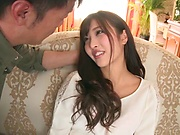 Mizuki Miri gets a large dick in her tight slit