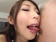Shinoda Ayumi kinkily pleasures a dude