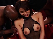 Hot Japanese woman having threesomes