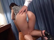 Naughty model is fucking a manager