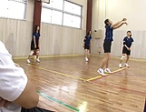 Naked milf with a shapely body Wakana Nao fucked hard in the gym picture 3