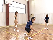Naked milf with a shapely body Wakana Nao fucked hard in the gym