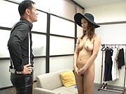 Stunning Japanese milf Wakana Nao shows off her nudity and fucks hard