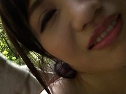Katase Yui goes nude in outdoors and fucks a lot