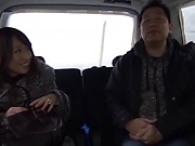 Japanese married woman fucked in the car