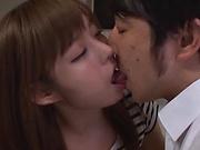 Alluring Asian hottie in kinky blowjob scene indoors