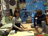Big tits Mishima Natsuko hard fucked on cam picture 14
