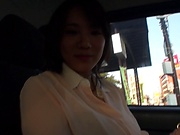 Pussy masturbation in the car with Shibuya Kaho
