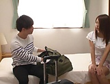 Enchanting Tsuno delights eager pussy in solo action picture 13