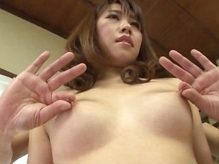 Hot Japanese milf likes it doggy- style