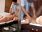 Masseur enjoys rubbing woman's pussy during massage picture 14