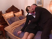 Delicious stewardess gets bonked and creamed