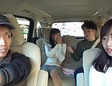 Juicy Japanese milf featured in a sleazy car sex picture 11