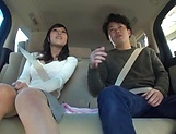 Juicy Japanese milf featured in a sleazy car sex picture 12