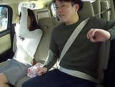 Juicy Japanese milf featured in a sleazy car sex picture 13
