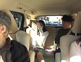 Juicy Japanese milf featured in a sleazy car sex picture 14