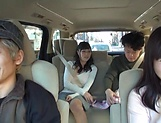 Juicy Japanese milf featured in a sleazy car sex picture 15