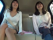 Juicy Japanese milf featured in a sleazy car sex
