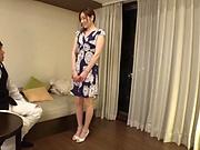 Hot milf Shiraishi Sumire gets a messy facial