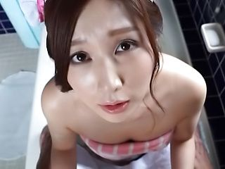 Lovely Sasaki Aki excels in sensual dick pleasing