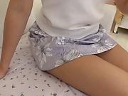 Japanese cutie pie deals a large dick on live cam