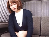 Naughty Japanese milf enjoys solo masturbation picture 1