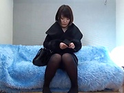 Sexy milf sensually gags on a shaft