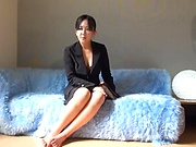 Japanese amazing wife gags on a hefty shaft