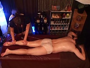 Superb milf enjoys a wild massage bonking