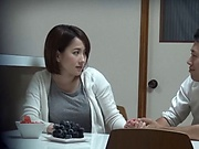 Shy looking milf Mizukawa Kaede enjoys a hot fuck with her neighbour