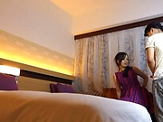 Horny couple experiment new sexual positions in a hotel