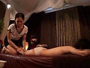 Sexy masseur enjoys a worthy shag