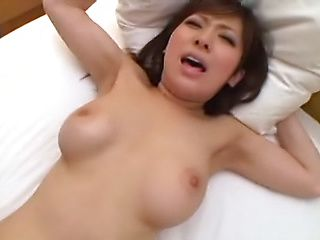 Asian love gets her gaping lady flower dripping with studs cum