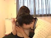 Kitano Nozomi performs a cute cock sucking