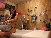 Lovely teen enjosy kinky massage and nice fuck