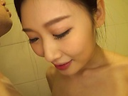 Sakai Eriko impresses during a sensual soaping