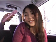 Curvy bimbo gets toyed superbly in the car