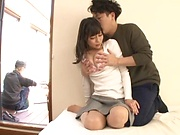 Juicy Japanese milf featured in a harcore action