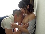 Tokyo milf likes gentle rear fuck a lot