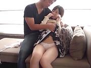 Beautiful Japanese girl is moaning