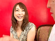 Hot milf Konishi Yuu gives a foot job and enjoys a huge cock in pussy