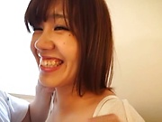 Japanese amateur records her naughty fuck play