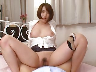 Superb Asian babe tempts her guy with big sexy tits
